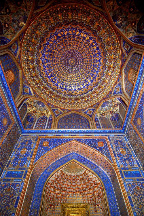 Tilla kari madrasa registan square samarkand uzbekistan for Architecture classique