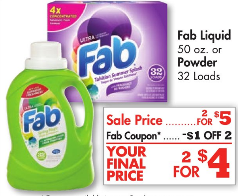 Fab Laundry Detergent At Family Dollar Just 1 Each Fab Laundry