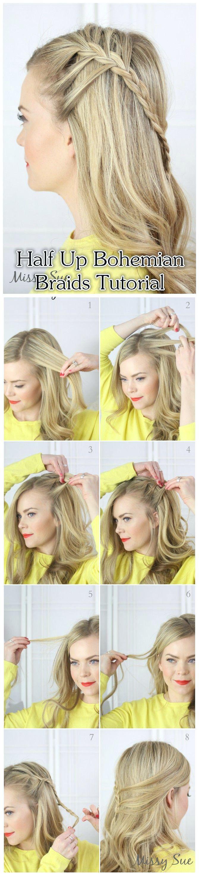 10 Boho Hair Tutorial für die Saison | Boho haare ...
