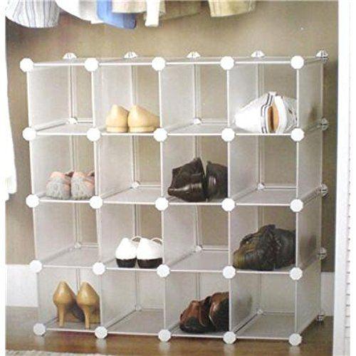Express Trading INTERLOCKING 40 PAIRS CUBE SHOE ORGANIZER RACK Fascinating Retail Shoe Display Stands Uk