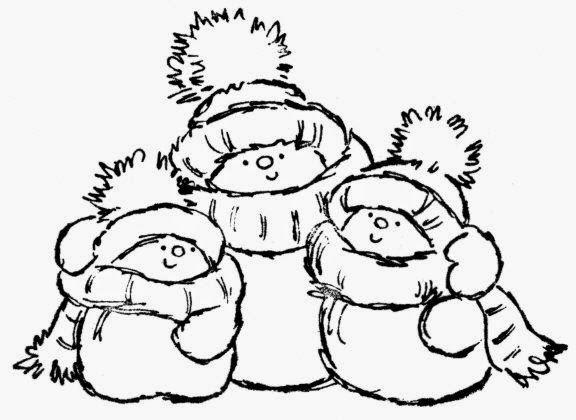 Lindas Imágenes de Muñecos de Nieve para Colorear. | Ornamentos de ...