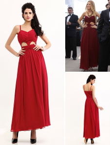 Chic Ankle-length Cut Out Chiffon Formal Evening Gossip Girl Dress. Get substantial discounts up to 65% Off at Milanoo using Coupon & Promo Codes.