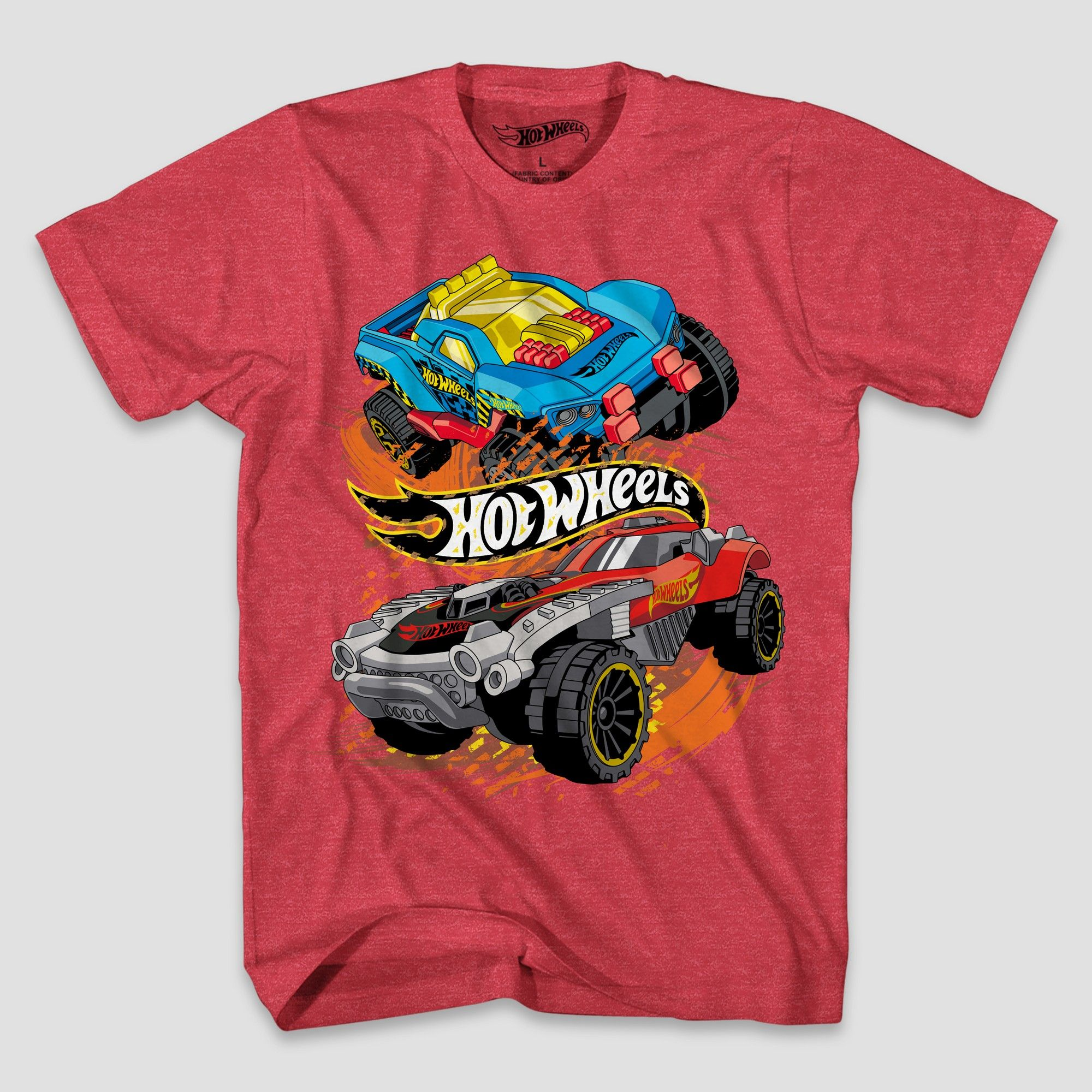 petiteBoys' Hot Wheels Short Sleeve T Shirt Red Heather S