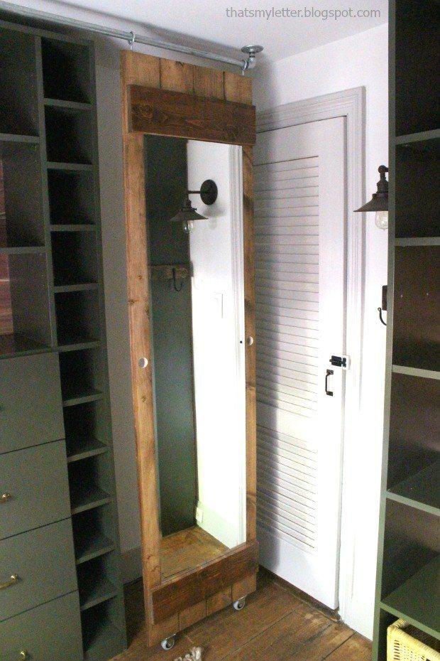 Diy Sliding Mirror For Tight Closet Space