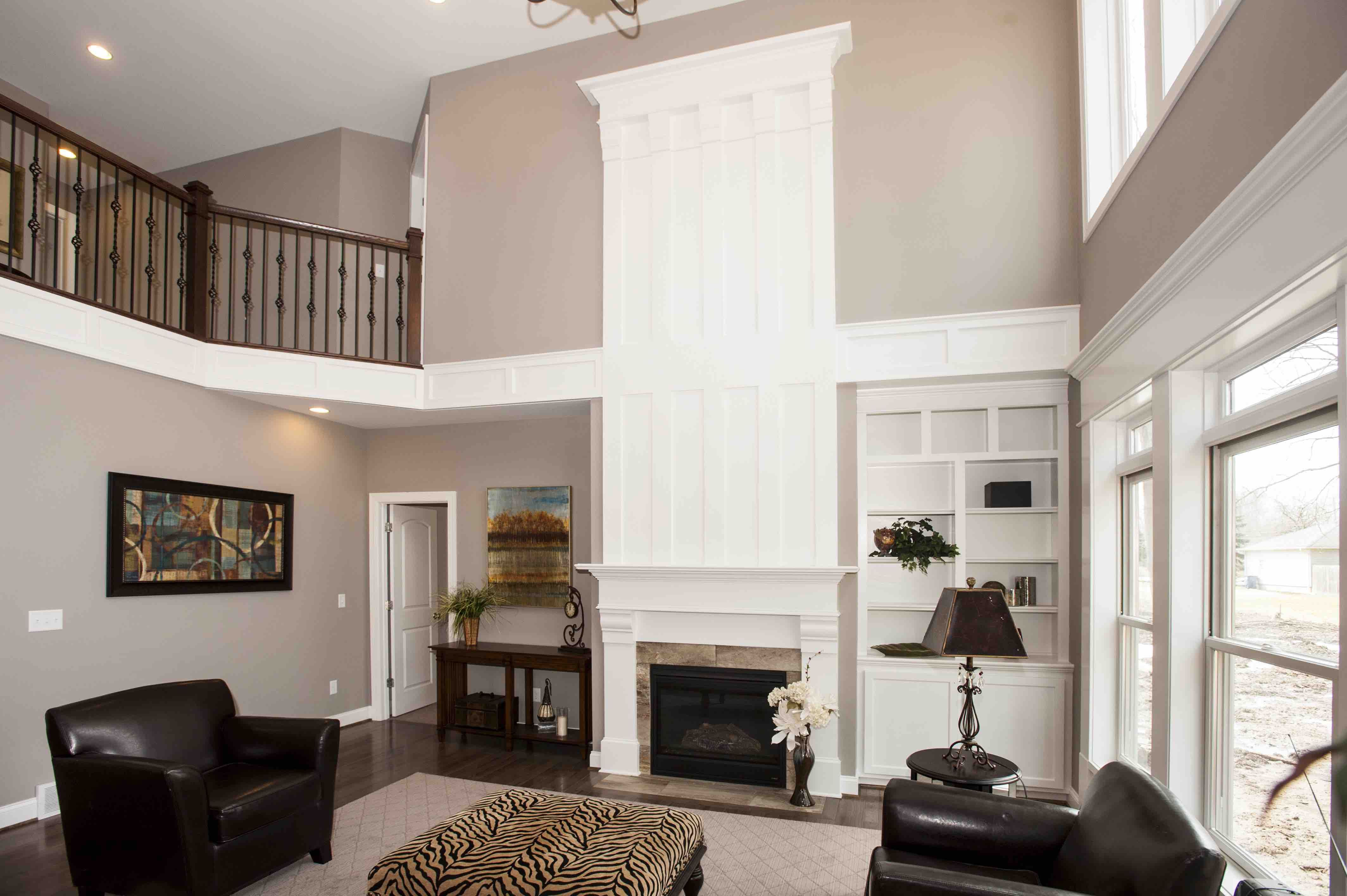 Two Story Fireplace Google Search Foyer Decorating Great