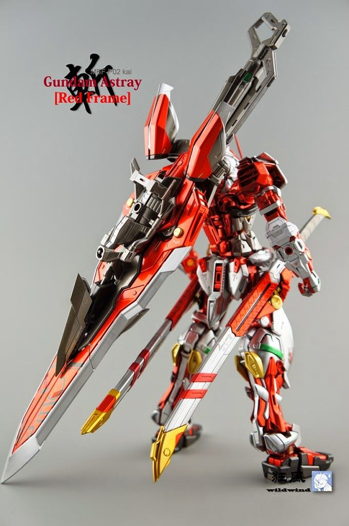 MG 1/100 Gundam Astray Red Frame Kai   Painted Build Modeled By 狂风wildwind