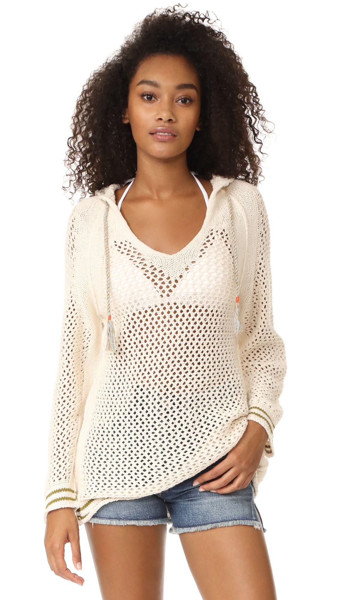 Shadow Stripe Mesh Hoodie $89 // Perfect summer sweater with denim ...
