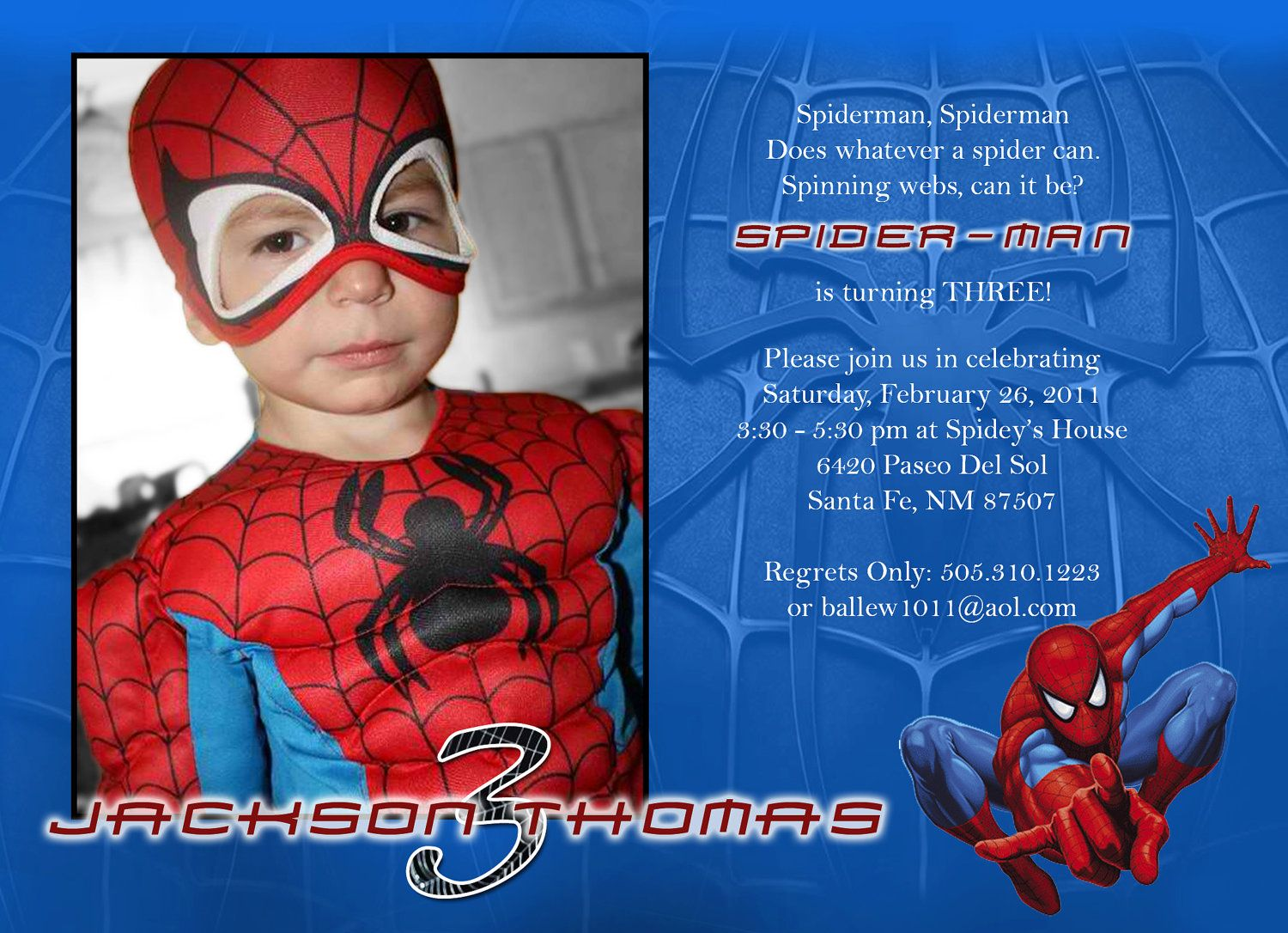 18 best spiderman decor images on pinterest spiderman birthdays items similar to spiderman custom photo birthday invitation on etsy solutioingenieria Gallery