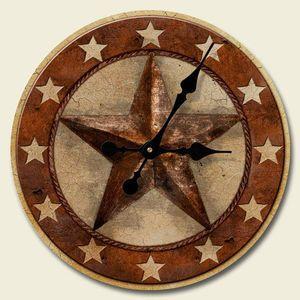 Barn star wood wall clock country or western wall decor new barn star wood wall clock country or western wall decor new ppazfo