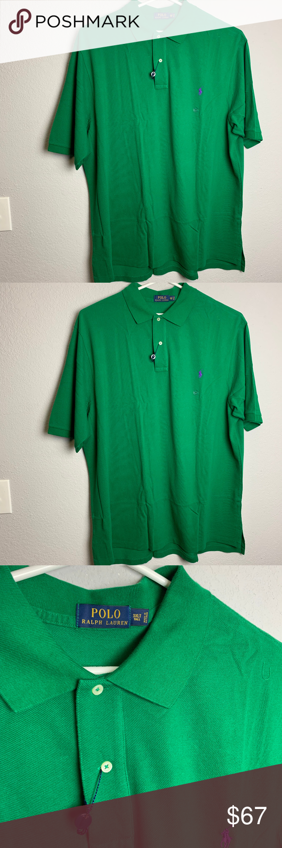 Green Things polo t shirt green color