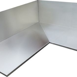 Stainless Steel Counter Top 4 Finish Welded Corner Detail Seamless Look Inexpensive Countertops Cheap Countertops Laminate Countertops