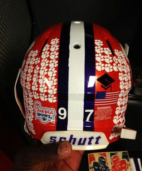 Best Helmet Decal Achievement Graduate Malliciah Goodman Mgood97 Clemson Clemson Football Football Helmets Clemson