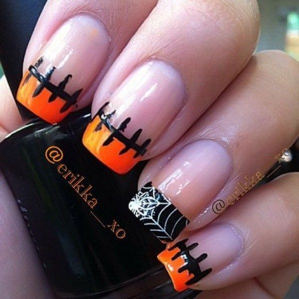 50 Spooky Halloween Nail Art Designs For Creative Juice Simple Fall Nails Holloween Nails Holiday Nails