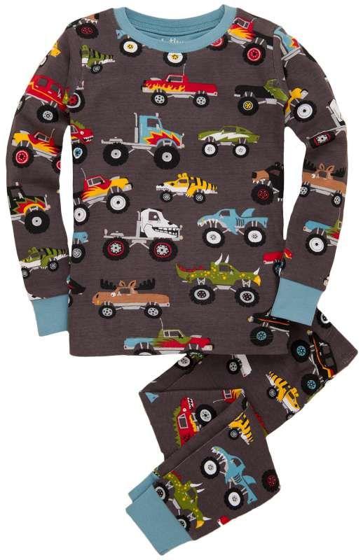 44e49dd36da3 Hatley Monster Truck pajamas! Comfortable sleepwear
