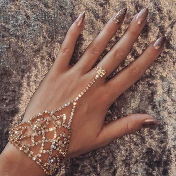 a73bccd90ed10 Hand bracelet with adjustable ring to fit any size. | prom | Prom ...