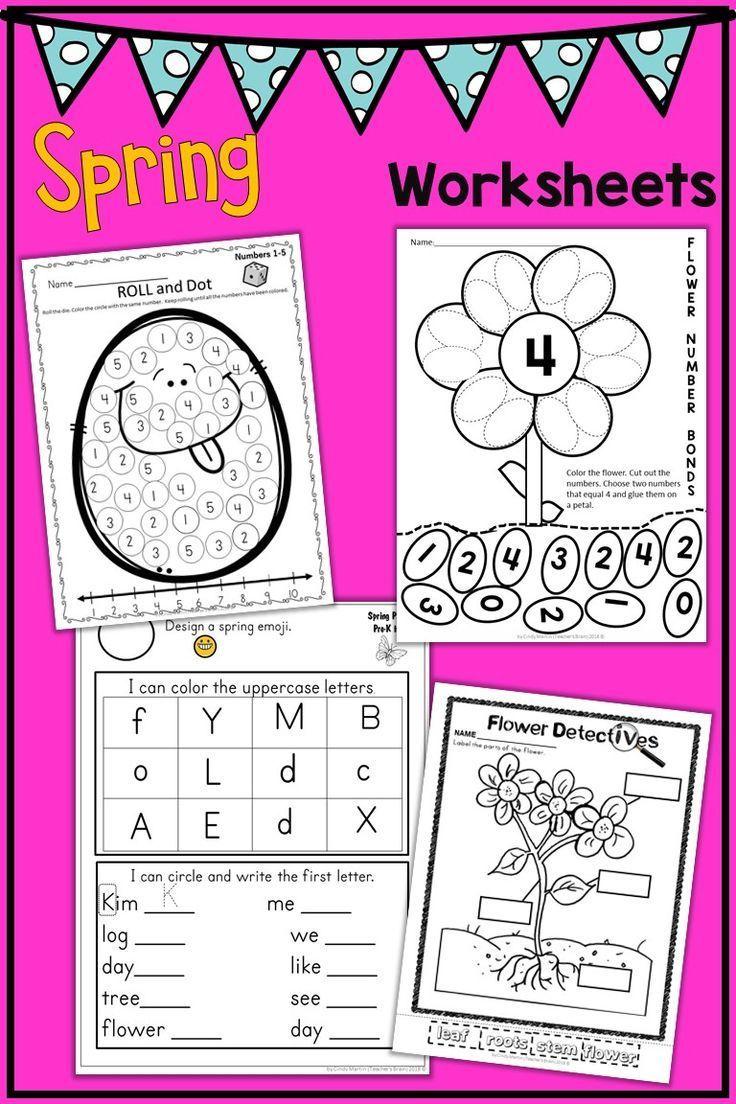 Spring Activities for Kindergarten and Pre-K - Worksheets ...