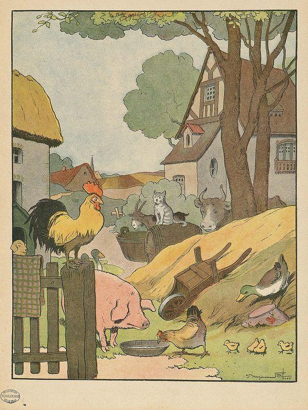 book illustration in colour by Benjamin Rabier