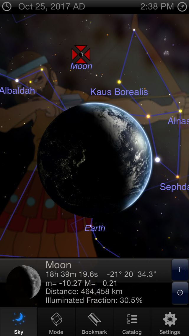 iPhone App StarMap 3D Guide to the Night Sky,
