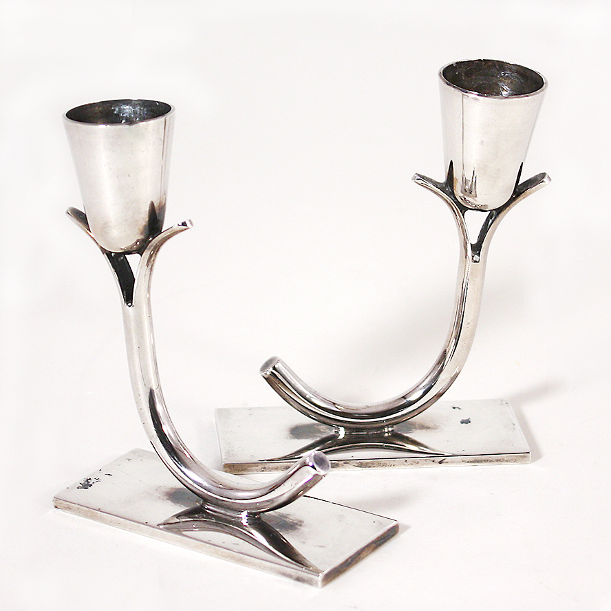 Wm. A. Rogers Tulip Shaped Candle Holders Silver Plate (SOLD)  sc 1 st  Pinterest & Wm. A. Rogers Tulip Shaped Candle Holders Silver Plate (SOLD ...