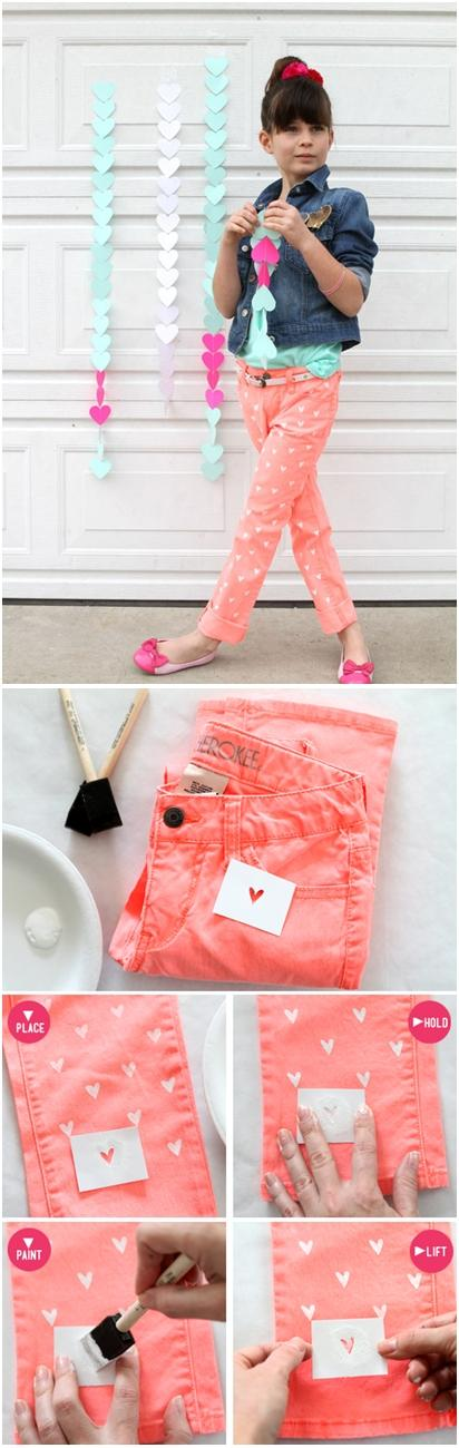 DIY : Painted Heart on your Jeans