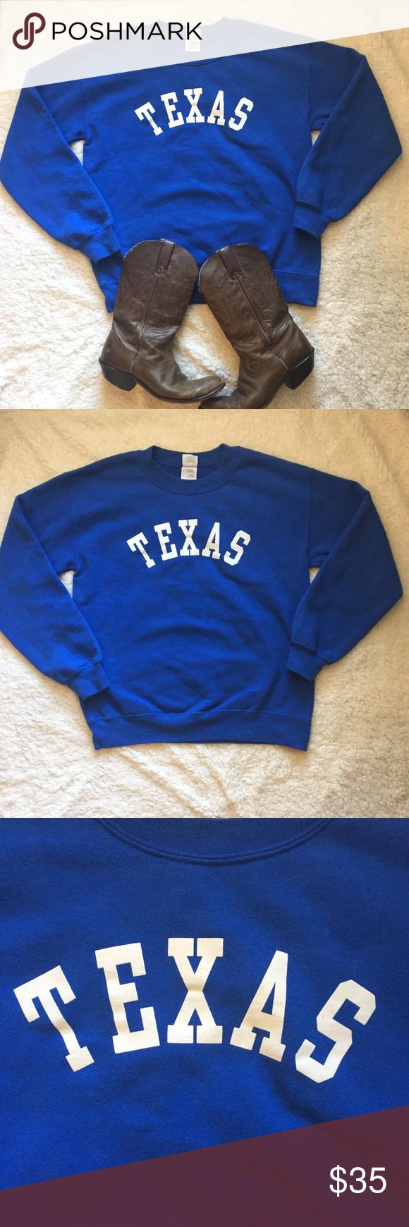 separation shoes 65631 15b08 Vintage Texas Rangers Pullover Blue Sweatshirt So cute ...