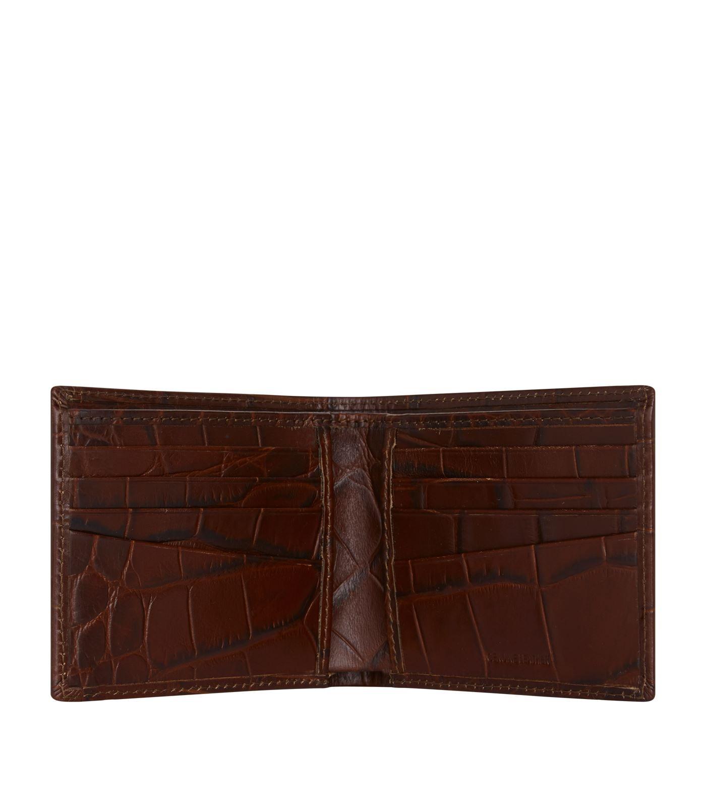 Harrods Crocodile Embossed Leather Bilfold Wallet Ad Sponsored Embossed Crocodile Harrods Wallet Bilfold Embossed Leather Wallet Leather