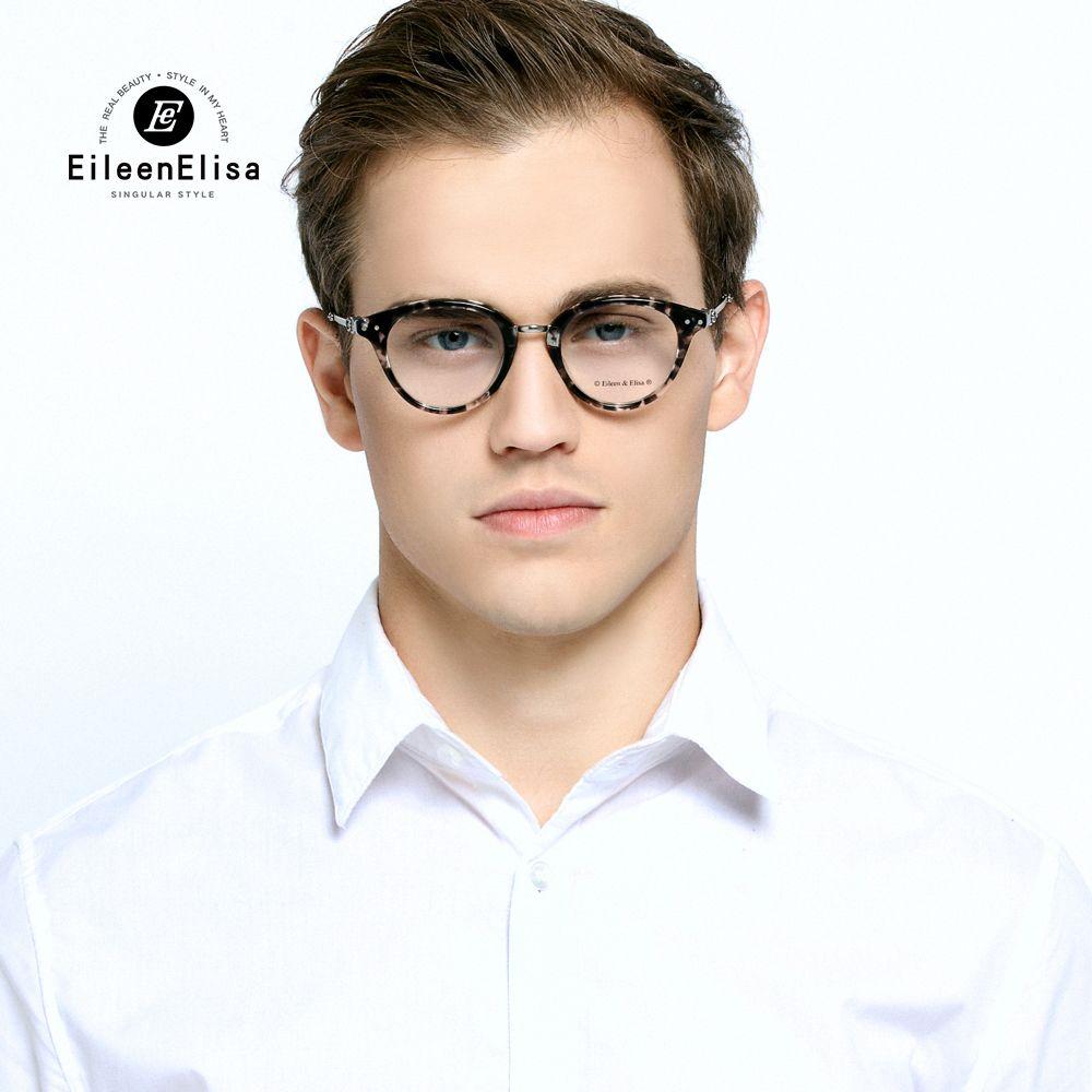EE Vintage Eyewear Fashion Optical Eye Glasses Women Brand Eye Glasses Clear Lens Retro Acetate Eyeglasses Frames Men #Affiliate