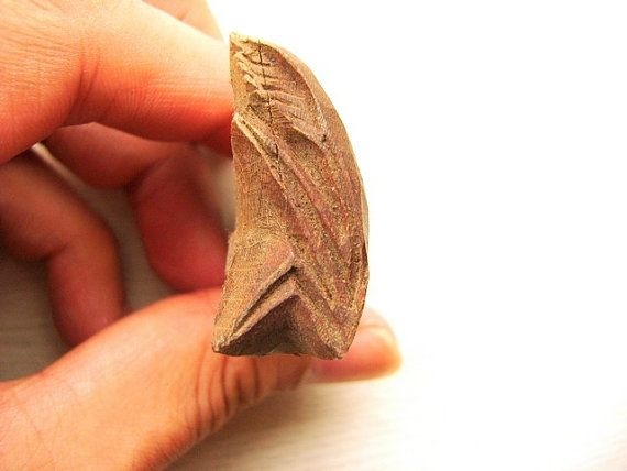Rice Plant Wood Stamp Japanese Vintage Hand by VintageFromJapan, $12.00