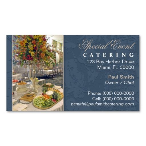 catering business card chef cook business cards pinterest