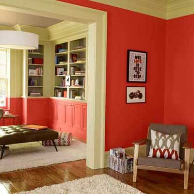 Choose paint colors to lift your mood benjamin moore paint trim and red rooms - Choose color scheme every room ...