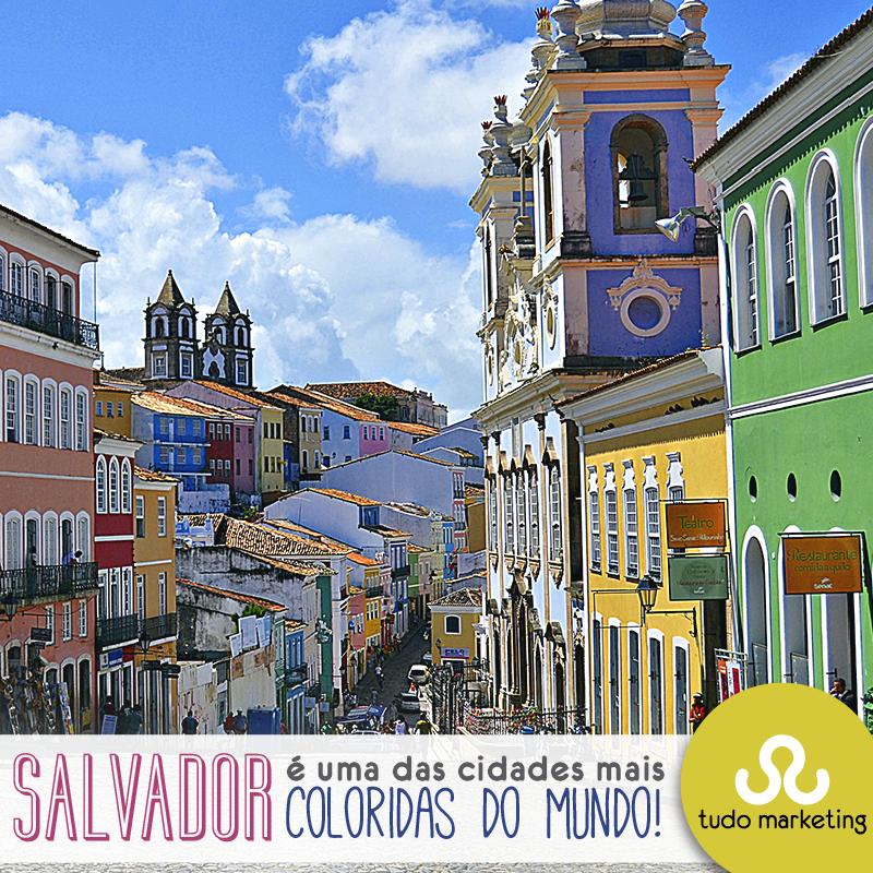 O portal GuiaViajarMelhor.com divulgou uma lista com algumas das cidades mais coloridas ao redor do mundo, e Salvador está entre elas!  Nós amamos essa cidade e sua cultura. E você? E não deixe de conferir as outras cidades lá no portal do Guia Viajar Melhor. #Orgulho #Lugares #Cores #Brasil #TudoMKT #TudoMarketing