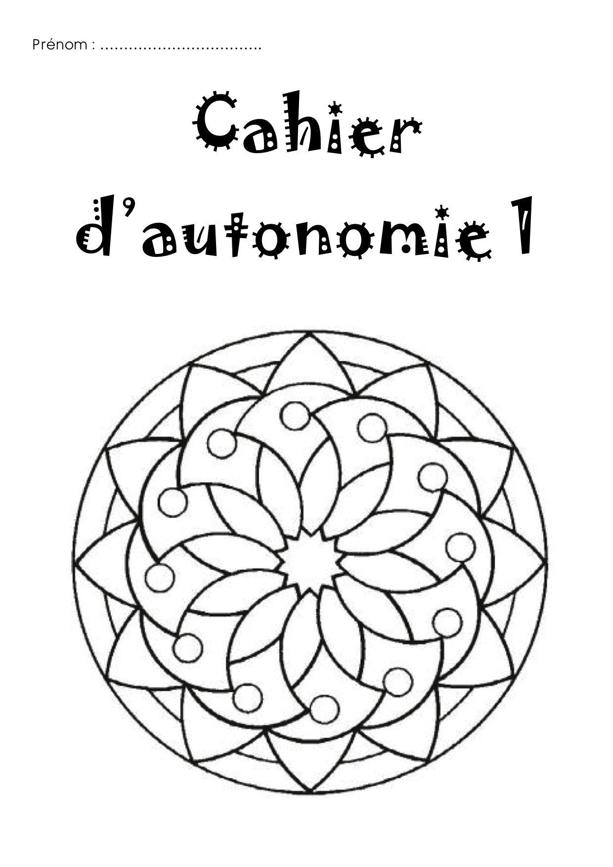 Cahier d 39 autonomie id es pour l 39 ecole mandala mandala coloring et mandala coloring pages - Mandalas cycle 3 ...