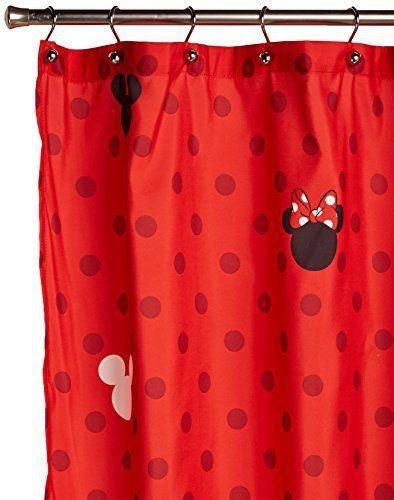 Disney mickey and minnie shower curtain mickeymouse - Disney mickey mouse bathroom decor ...