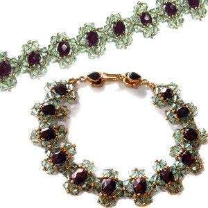 Want to feel like royalty? Make yourself a Fit for a Queen Jeweled Bracelet.
