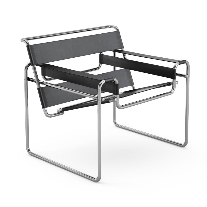 the wassily chair designed in 1925 by marcel breuer a member of the bauhaus i own a cheap. Black Bedroom Furniture Sets. Home Design Ideas