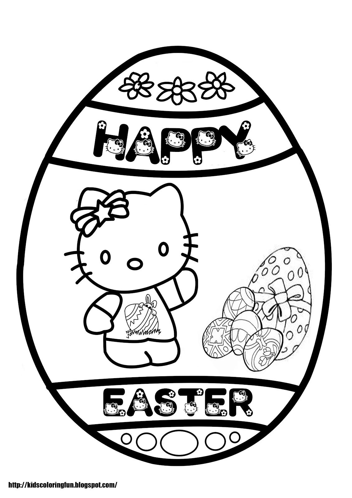 Easter Coloring Printable Free Online For Adults Teenagers Kids Sheets