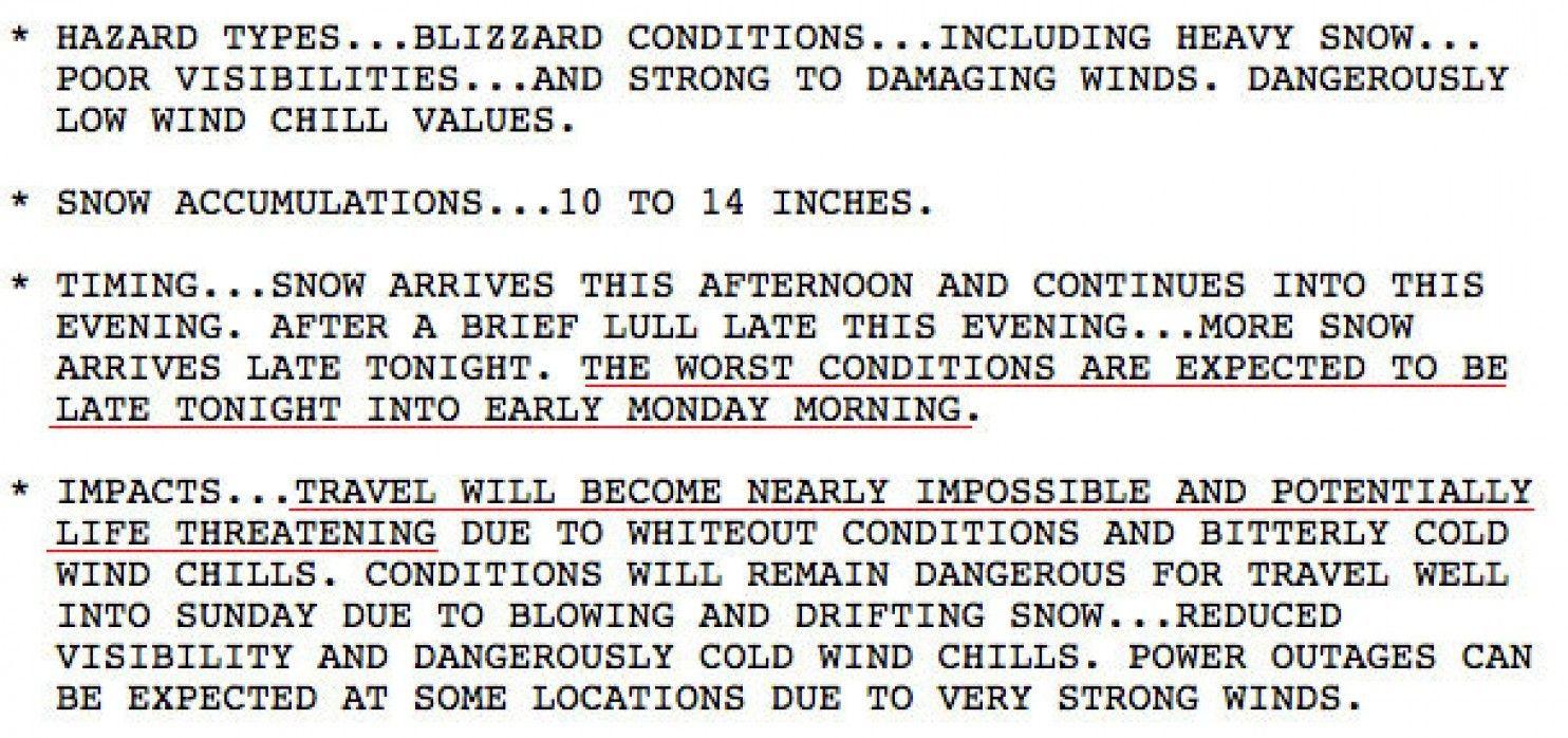 Hurricaneforce blizzard to belt coastal Northeast with