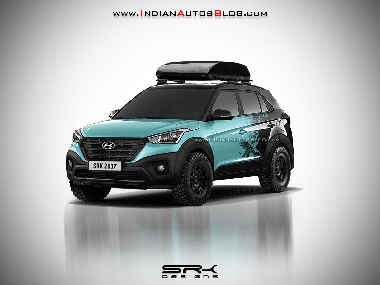 Hyundai Creta X With Off Road Modifications Rendered Hyundai Custom Cars Offroad