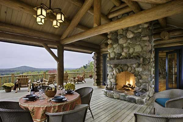Double Sided Fireplace Interior Exterior Off The Downstairs Side Of The House Would Change A