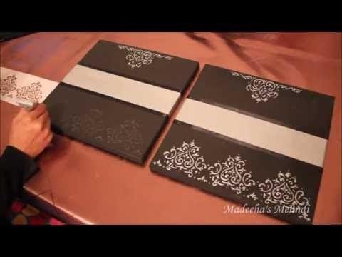 Diy Step By Step Canvas Wall Decor Gift Set Ig Madeeha S Mehndi