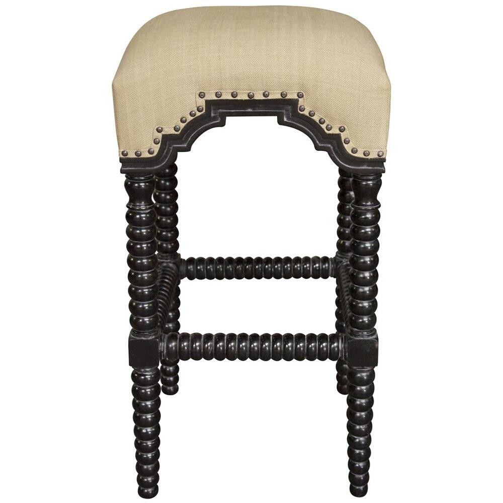 Jenny Lind Spool Bar Stool Black
