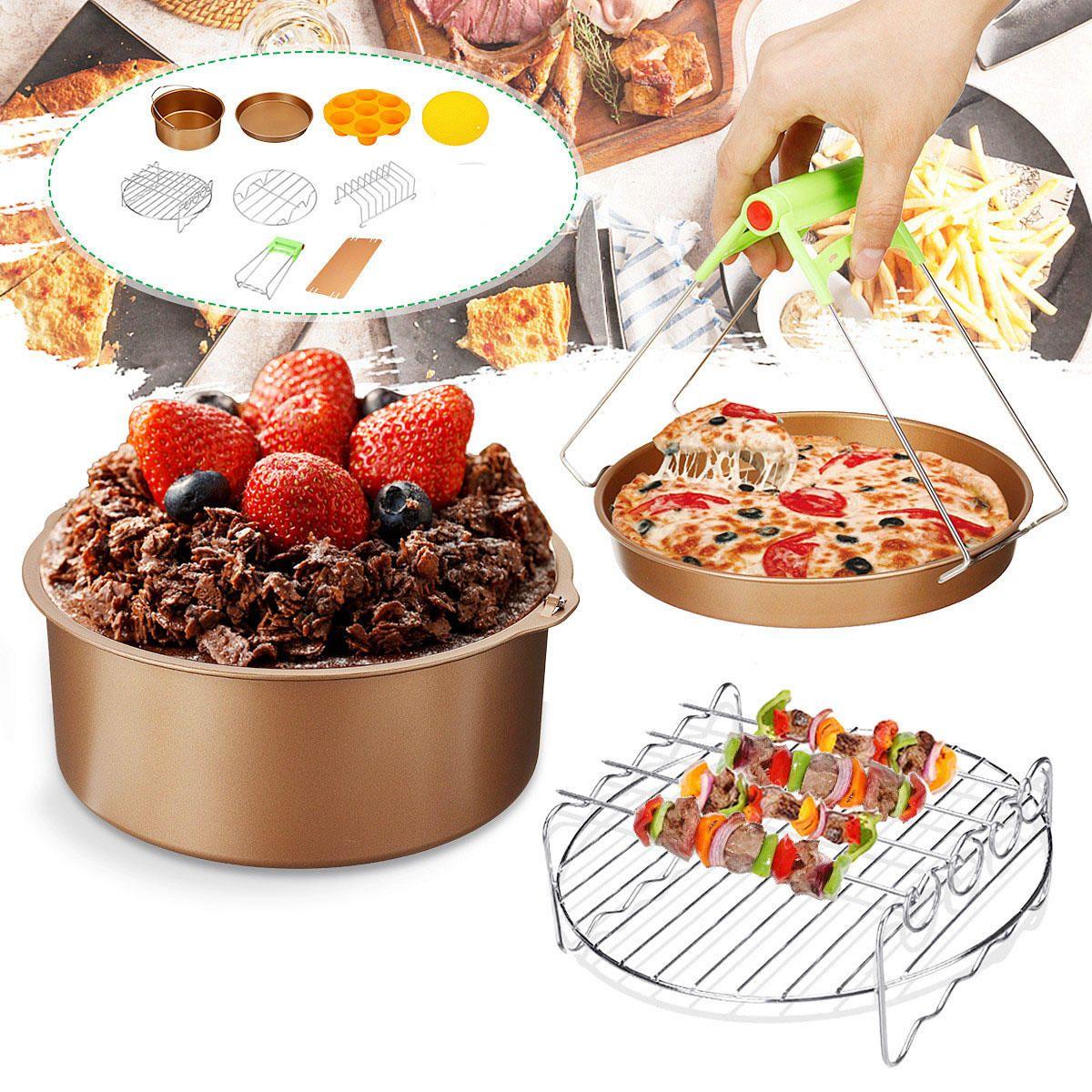 10Pcs/set 7inch Nonstick Air Fryer Accessories Cake