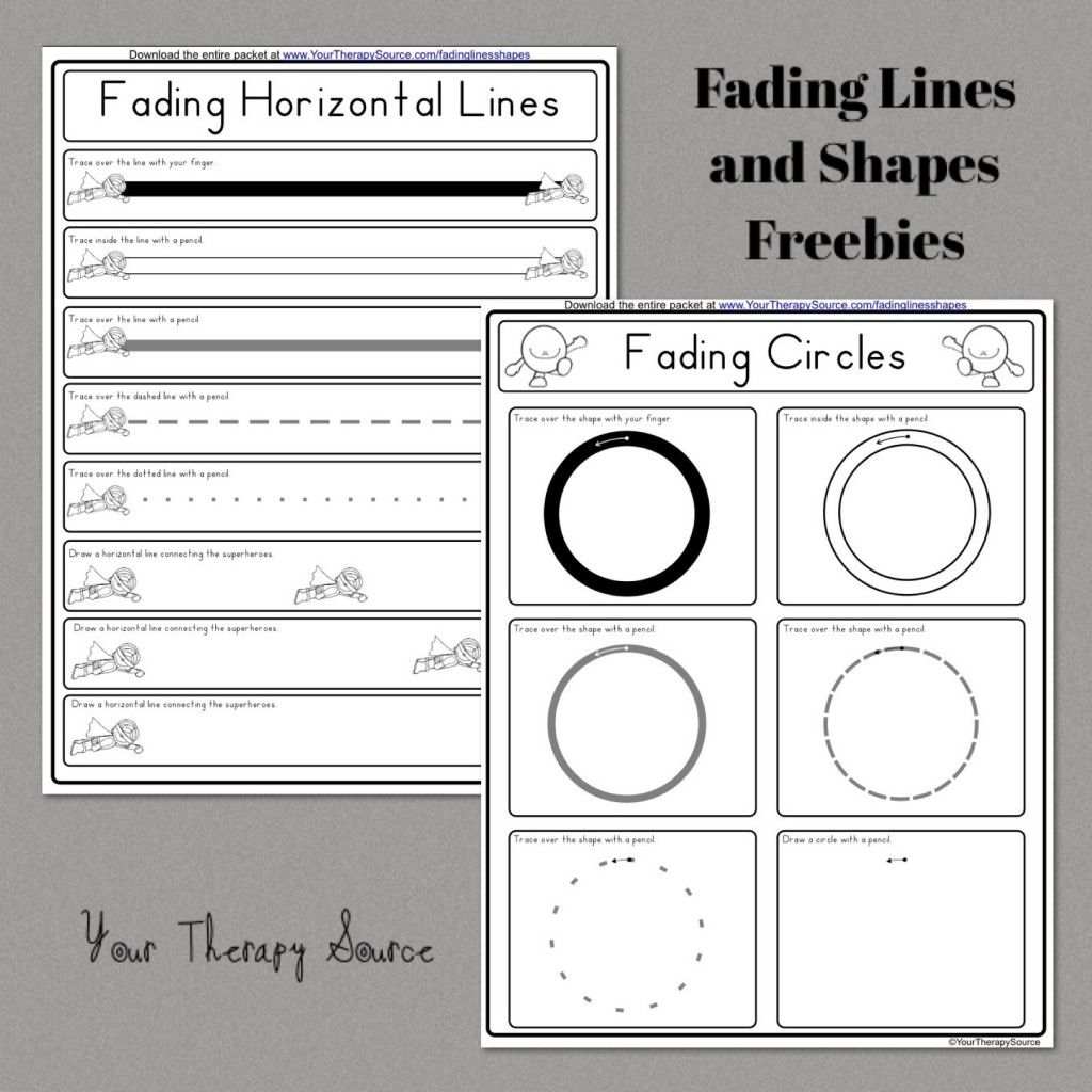 Fading Lines And Shapes Freebie