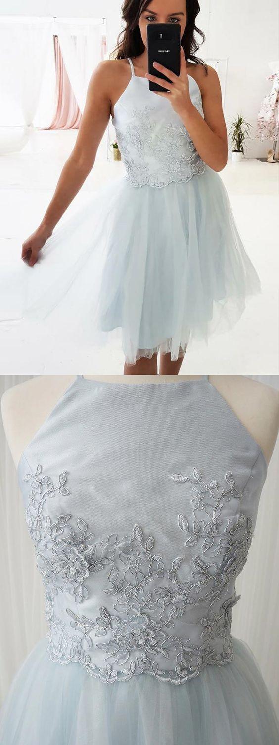 Aline homecoming dress aboveknee homecoming dresseslight blue