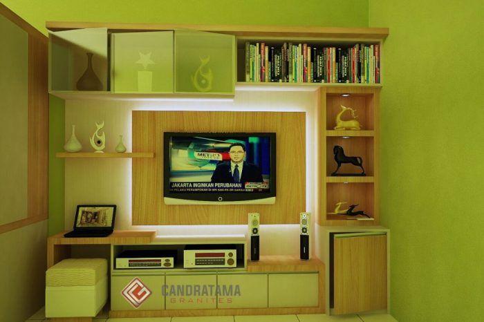 backdrop tv - interior desain minimalis kediri | Interior ...