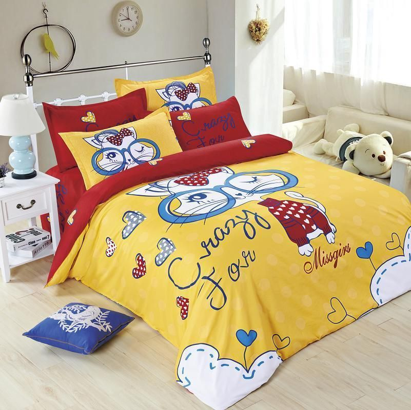 Fashion Cat Style Bedding Set Twin Full Queen Quilt Cover