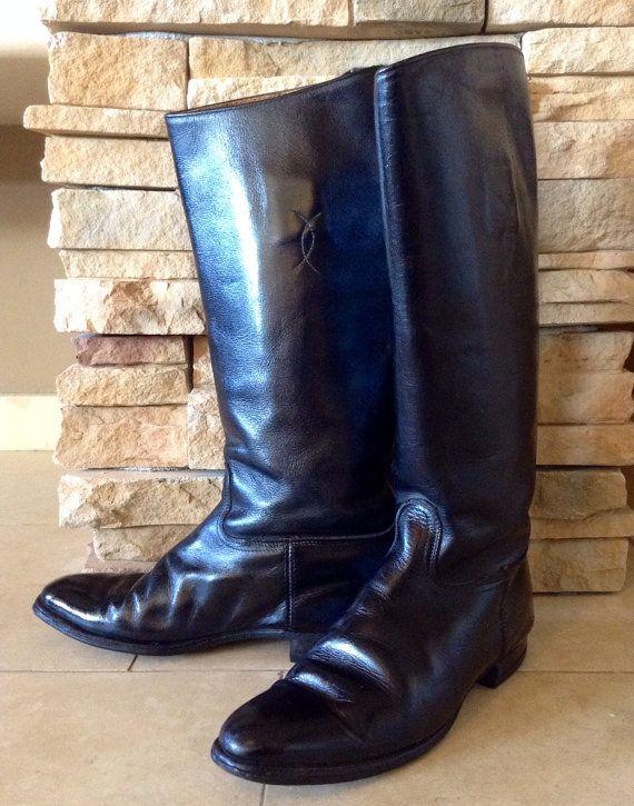 Vintage Equestrian English Riding Boots Black by IveGoneModVintage, $49.00