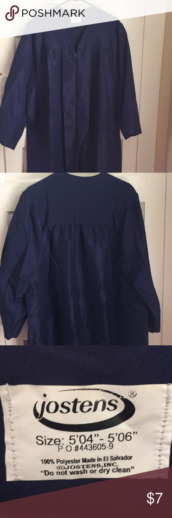 Graduation Gown - Navy Blue - Jostens | Navy blue, Gowns and Navy