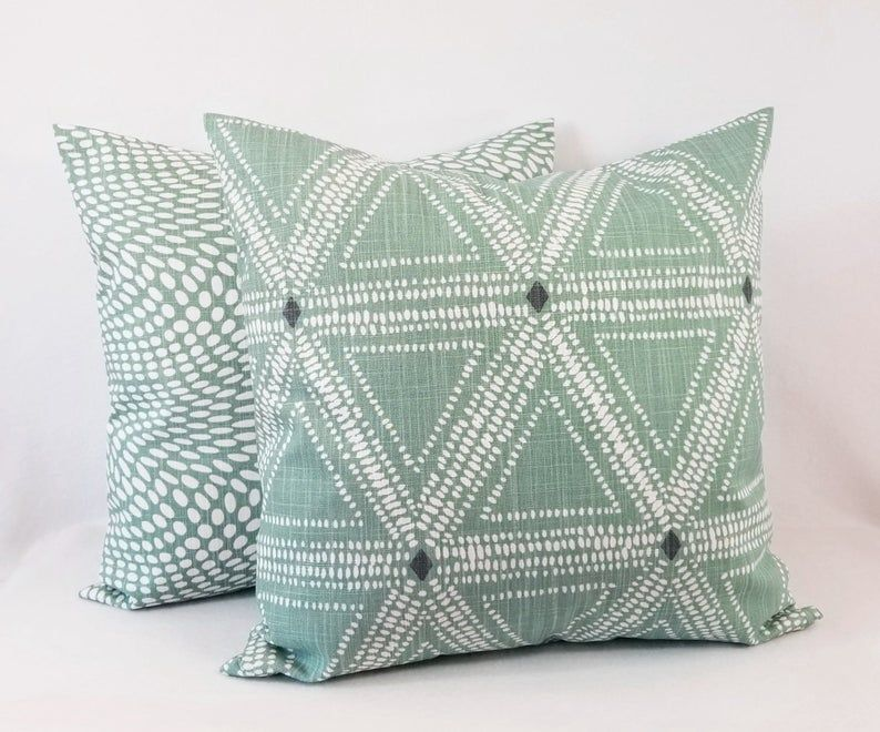 Soft Green Pillow Cover Sage Green Pillow Green Throw Etsy