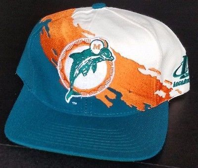 Miami Dolphins Vintage Snapback Logo Athletic Splash Hat NFL Pro Line Cap  Marino f911723562ea